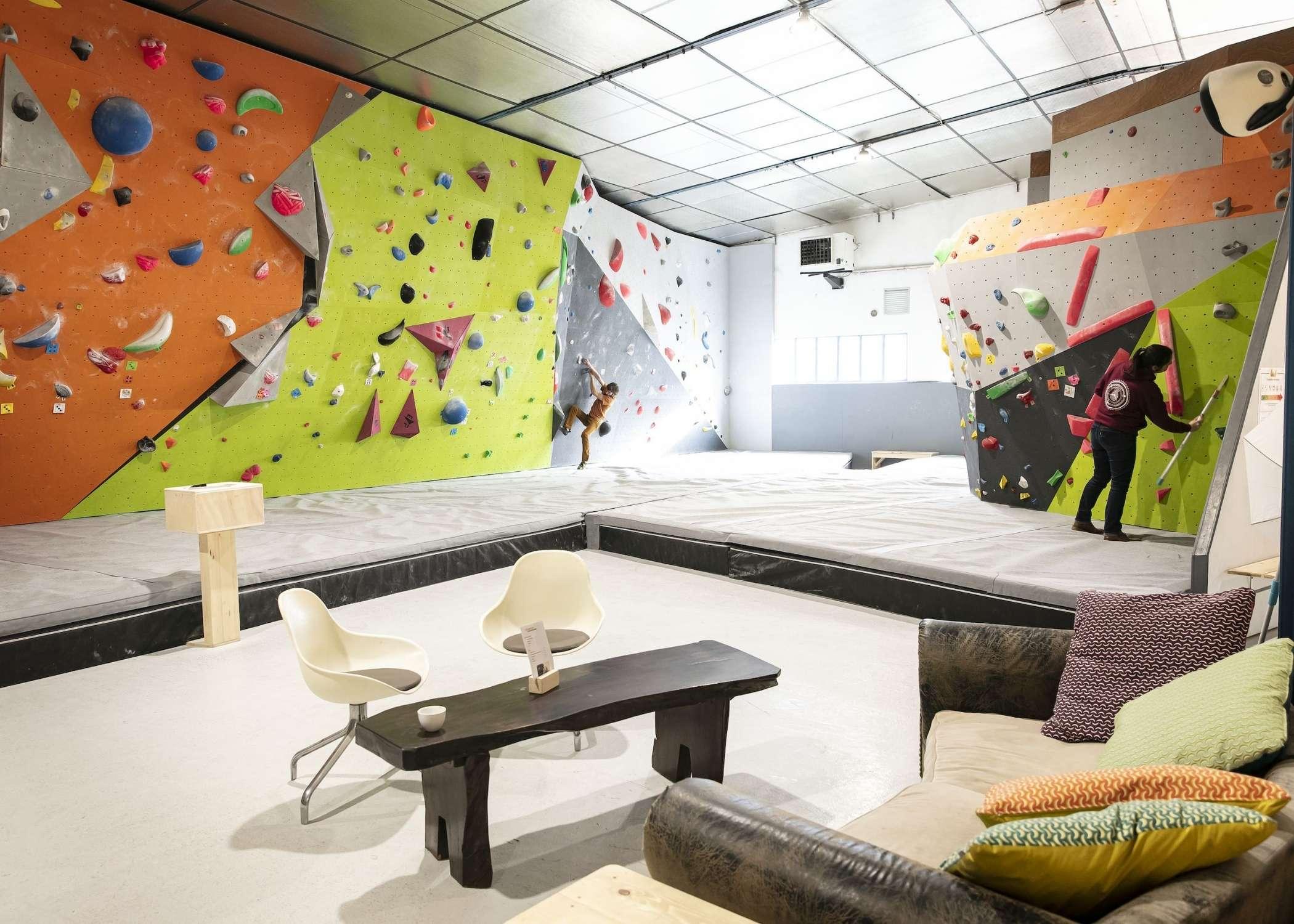 install indoor climbing walls