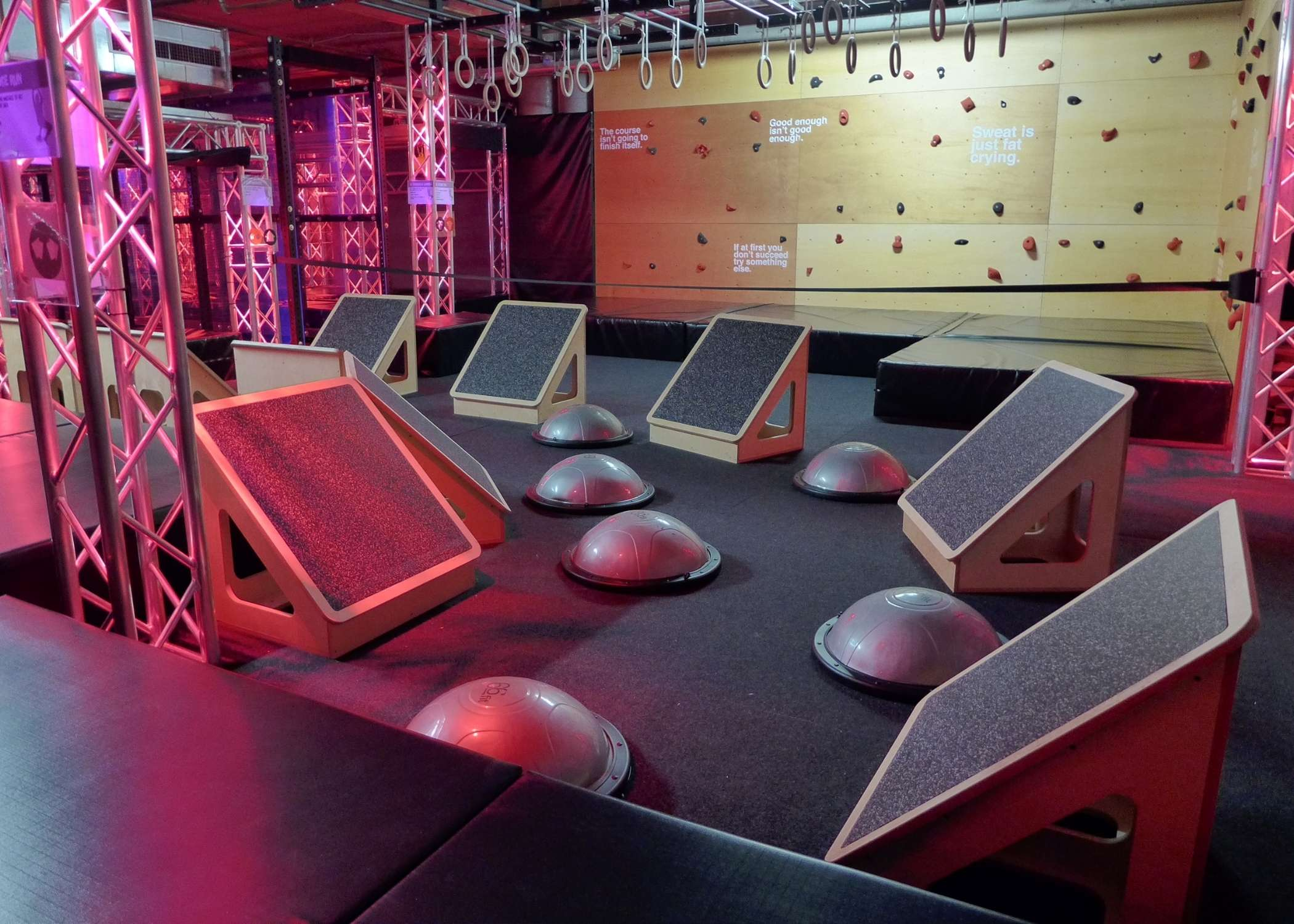 ninjar warrior course, obstacle course installation