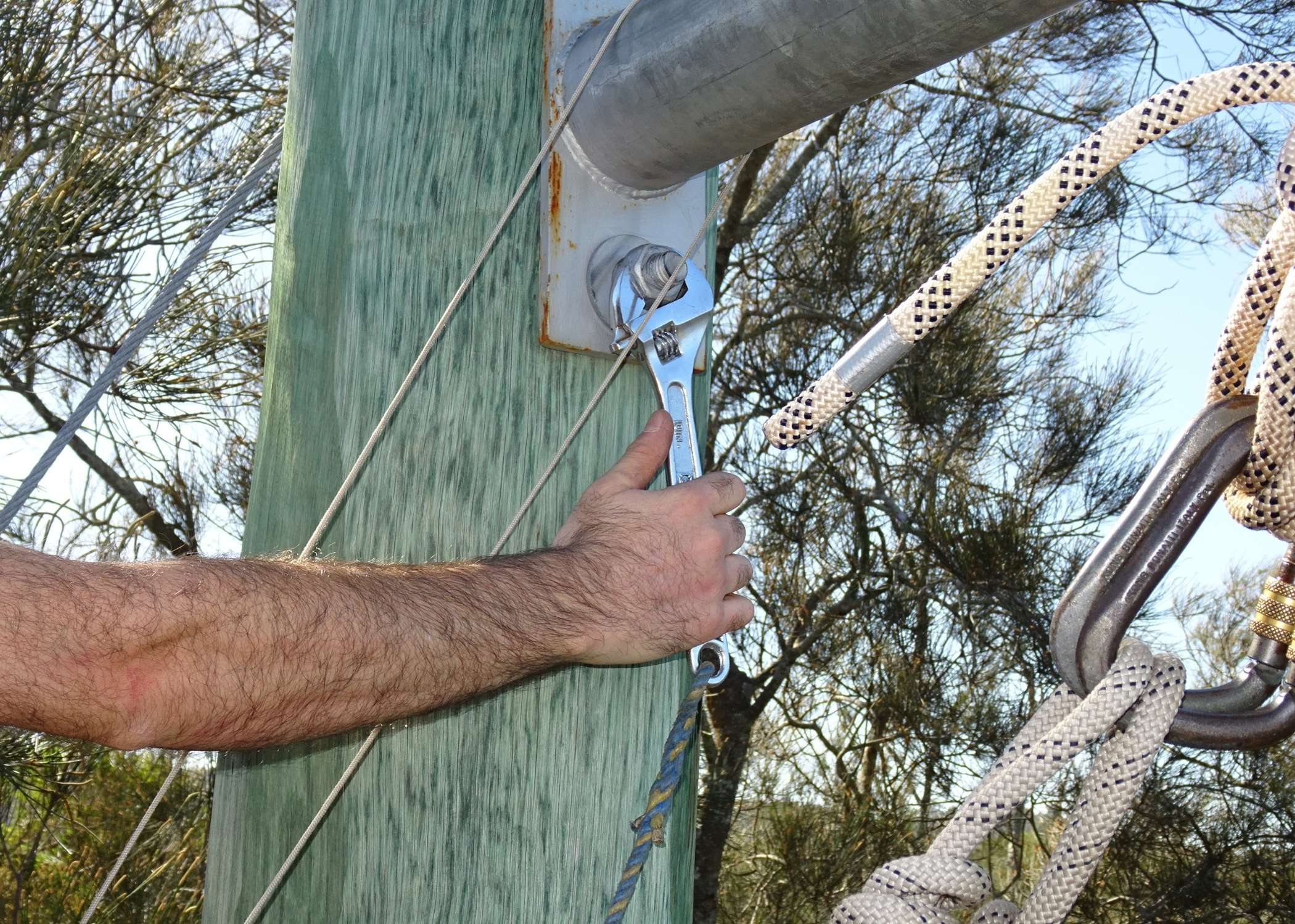 Ropes courses maintenance, ropes course installation